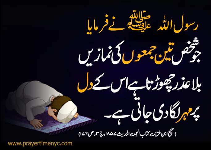 Jumma Prayer Hadith