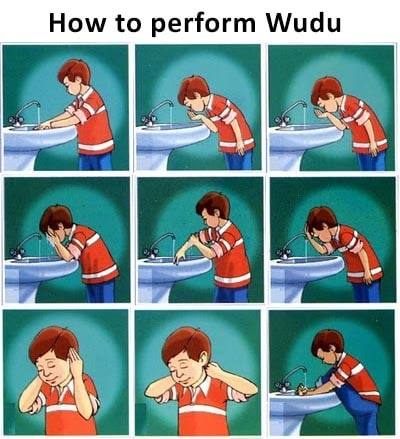 how to perform wudu in english