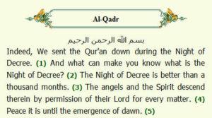 Surah qadr in english - Prayer Time NYC