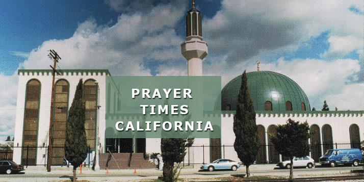 prayer times california