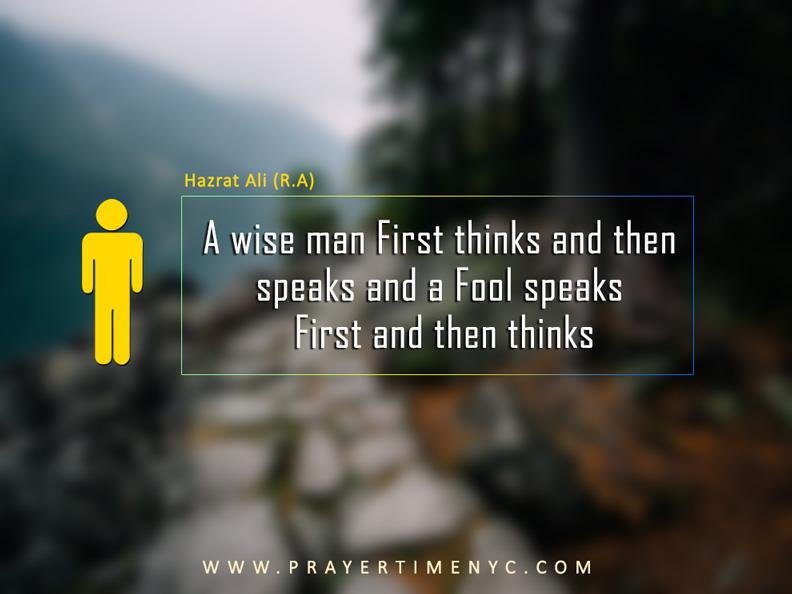 Hazrat Ali Quote wise man