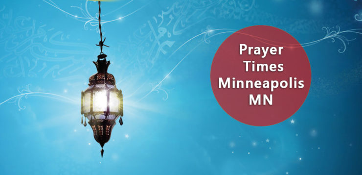 prayer times Minneapolis MN