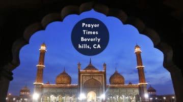 prayer times beverly hills
