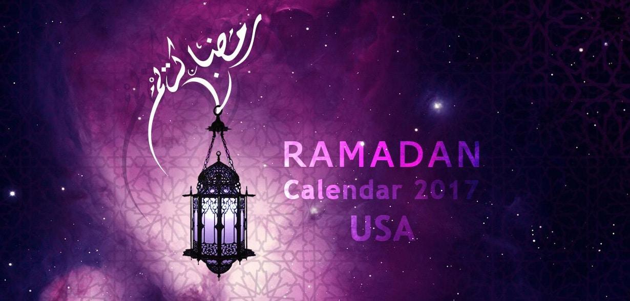 USA Ramadan Calendar 2017