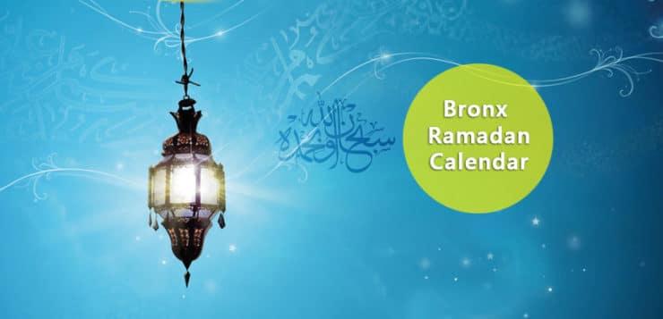 Bronx Ramadan Calendar 2017