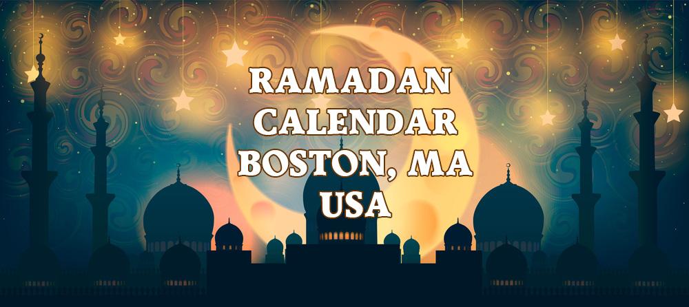 Boston Ramadan Calendar 2018
