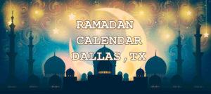 Ramadan Calendar Dallas