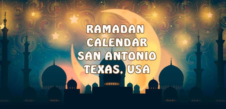 Ramadan Calendar San Antonio 2017
