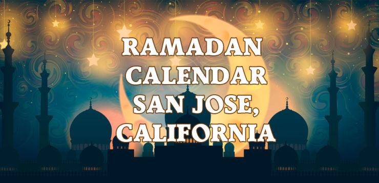 Ramadan Calendar San Jose 2017