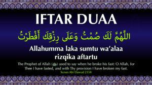 Iftar Dua in English