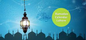 lahore Ramadan Calendar 2017