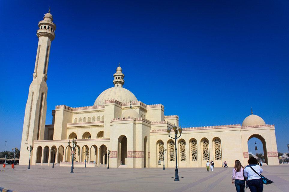 Famous Al Fateh mosque in Bahrain