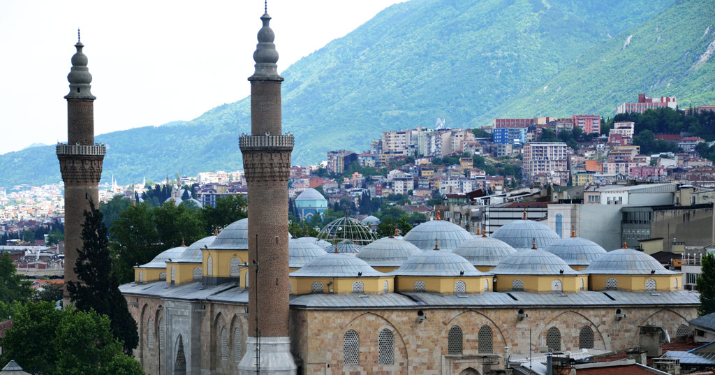 Largest Bursa Grand Mosque Turkey