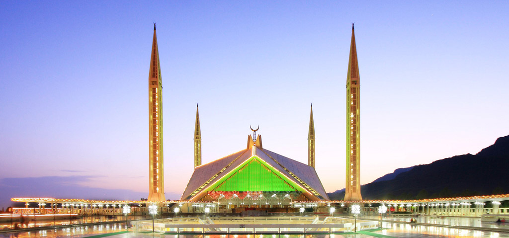 beautiful Faisal Mosque Islamabad
