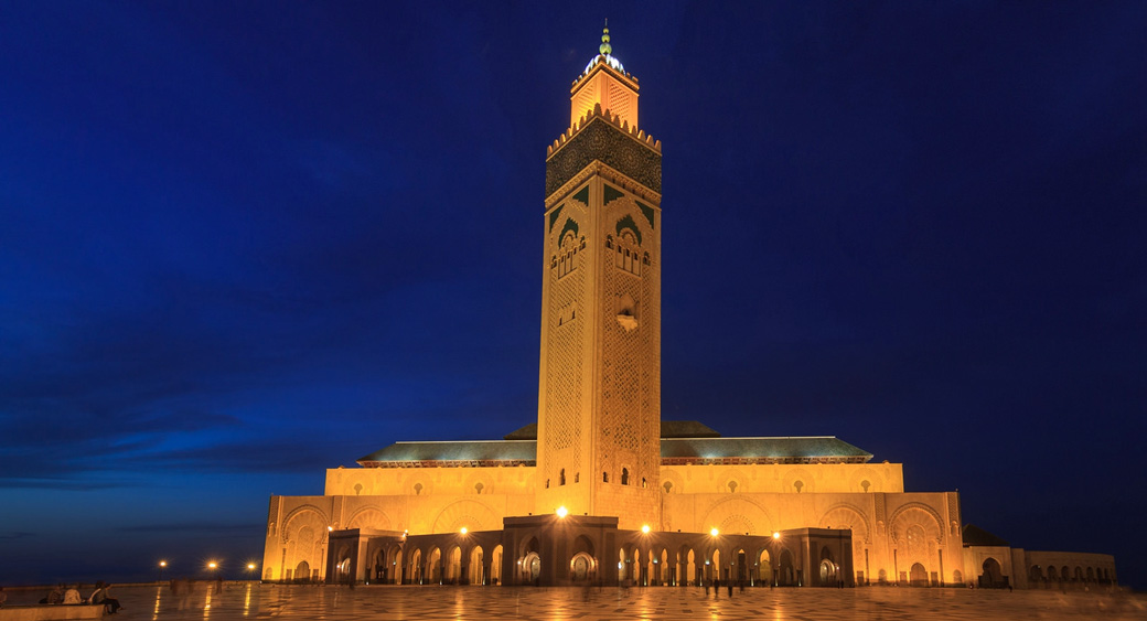 Beautiful Grande Mosque Hassan II