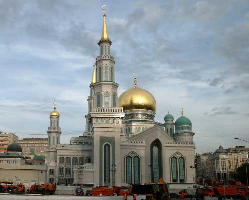 Beautiful Moscow Cathedral Mosque in Russia