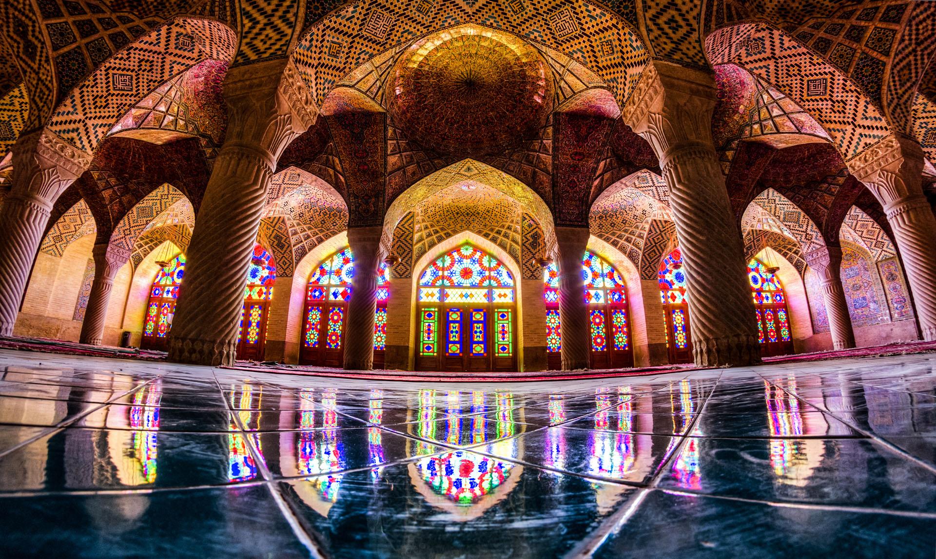 Nasir al mulk mosque Shiraz Iran