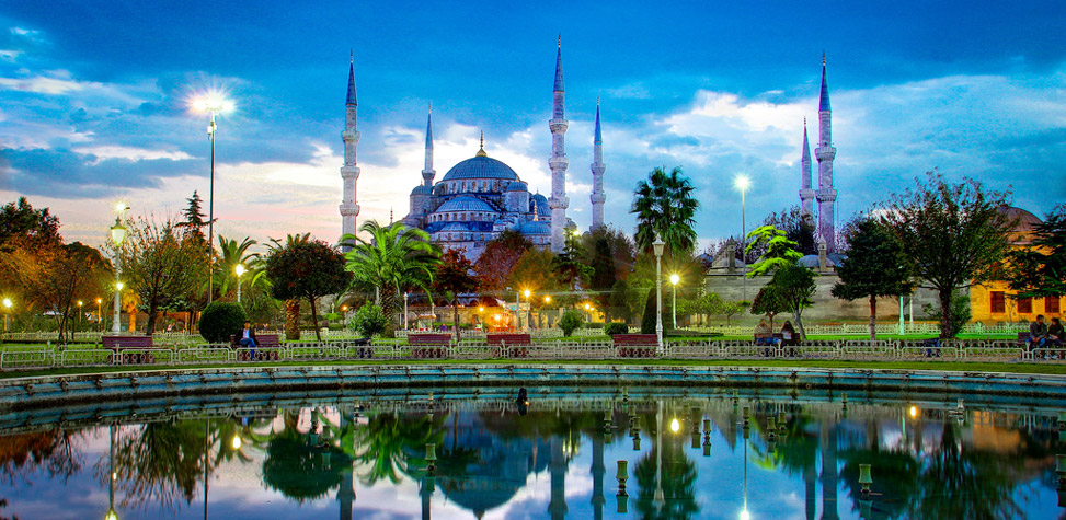 beautiful blue mosque turkey