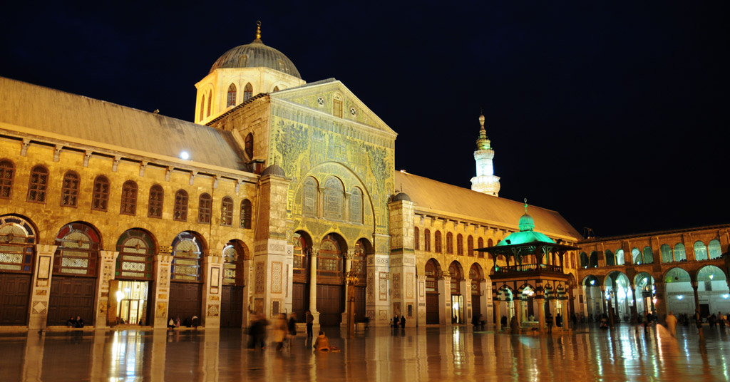 beautiful Umayyad Mosque Damascus