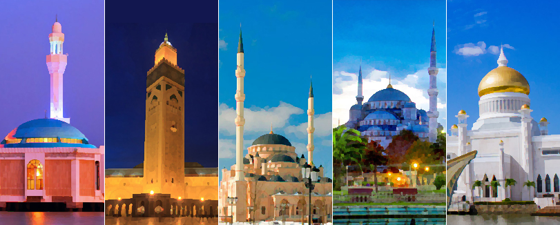 50 Most Beautiful Mosques Around the World (Location & Size)