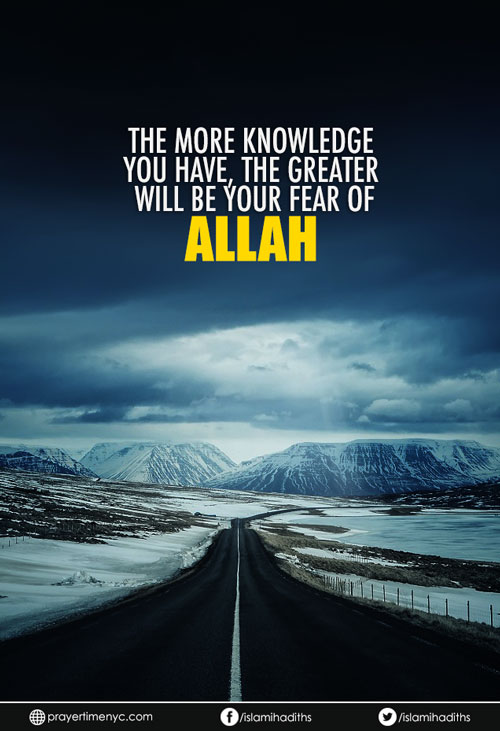 fear Allah quote