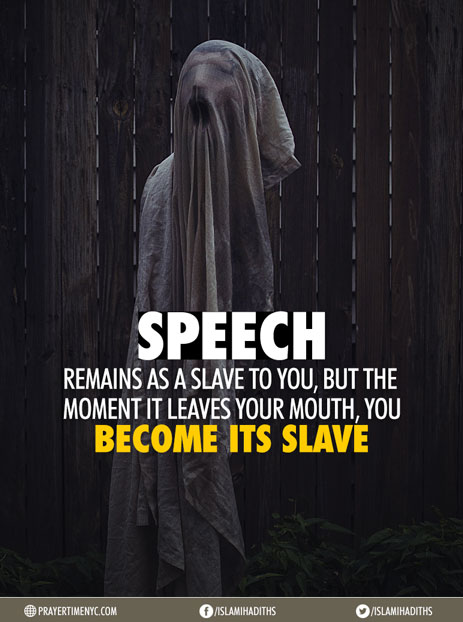 Islamic quotes about speech