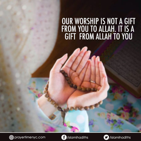Islamic Quote Worship Allah
