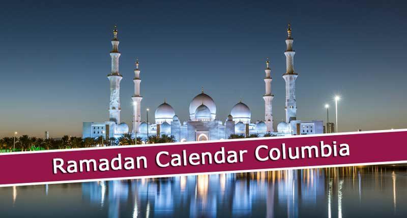 Ramadan Calendar Columbia