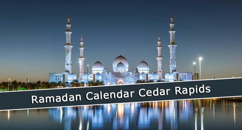 Ramadan Calendar Cedar Rapids