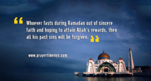 hadith on fasting in ramadan
